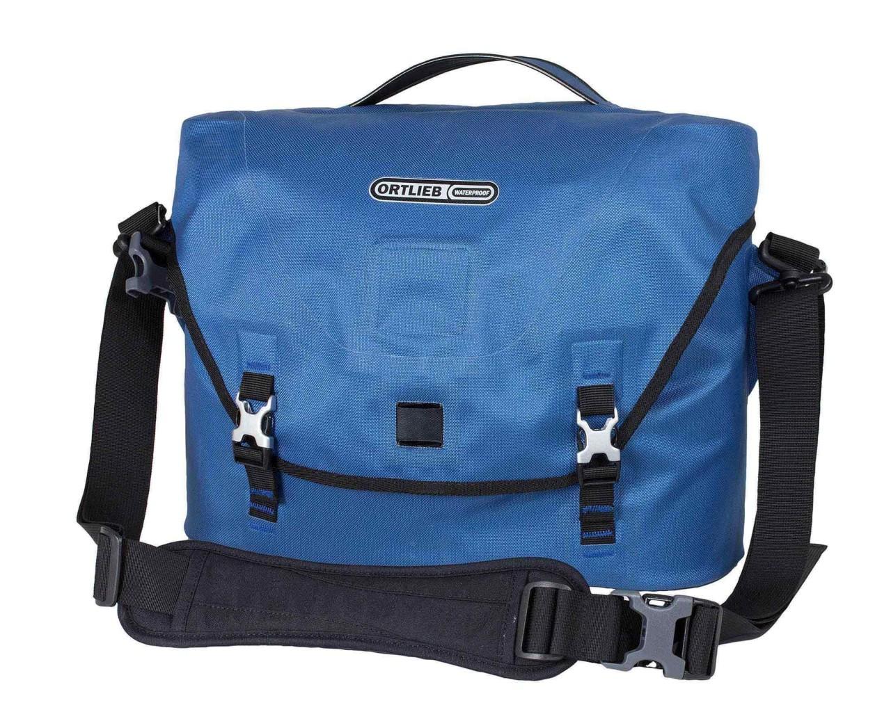 Ortlieb Courier-Bag City waterproof shoulder bag   PVC-free - size L   stealblue