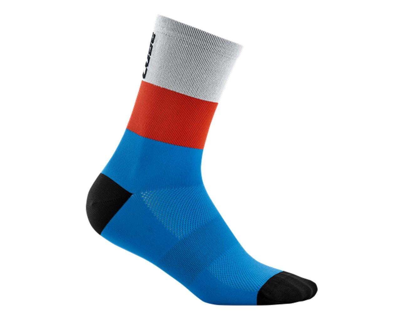 Cube Socken High Cut Teamline   blue n red n grey