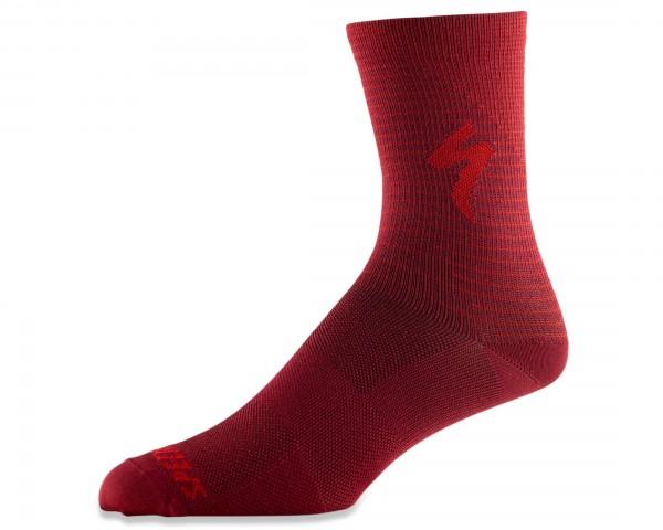 Specialized Soft Air Road Tall Socks | crimson-rocket red arrow