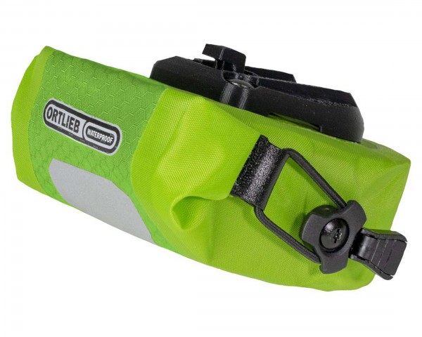 Ortlieb Micro Two waterproof Saddle Bag 0.5 litre PVC-free | light green-lime