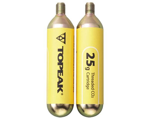 Topeak 25g CO2-Kartuschen mit Gewinde - 2er Set