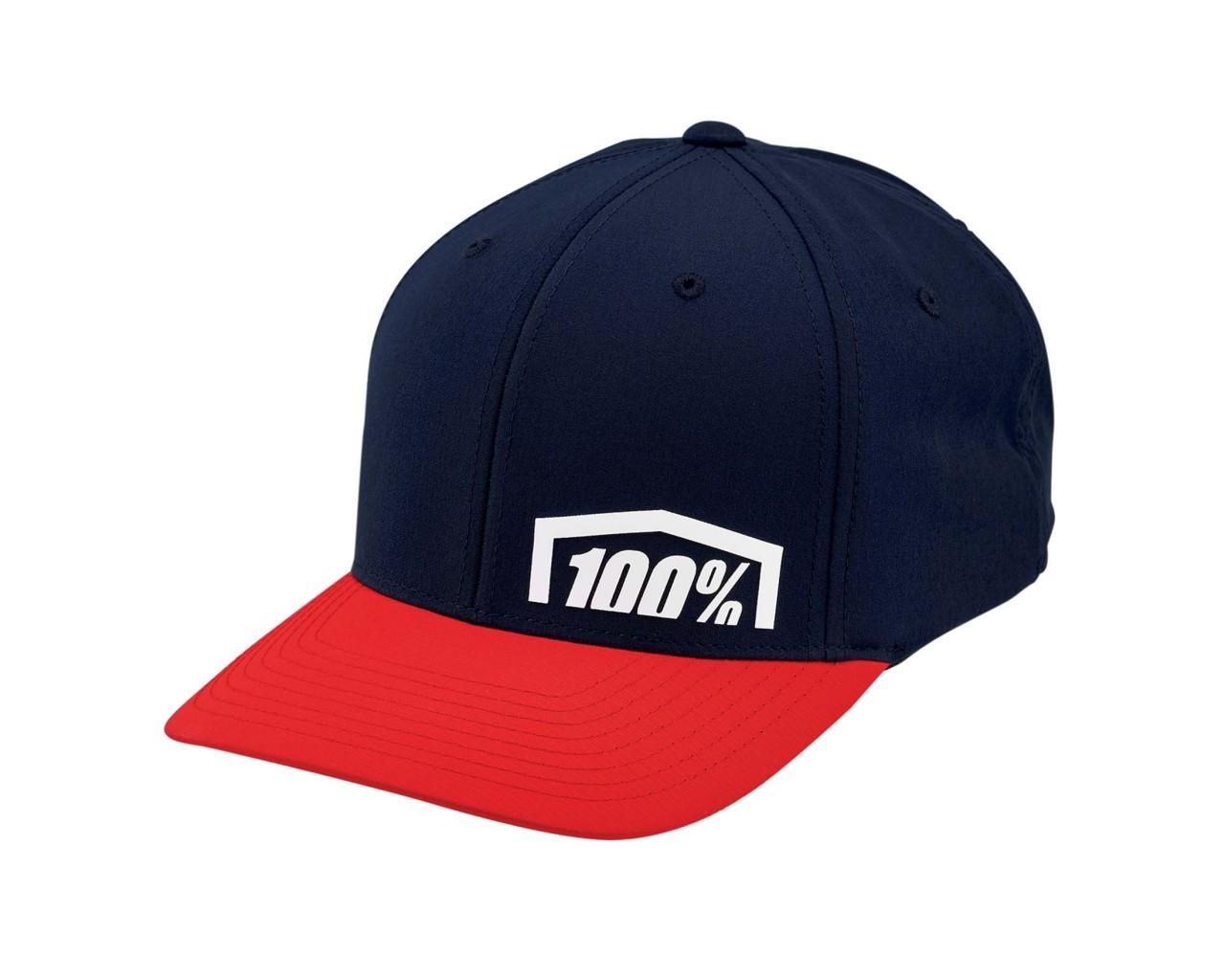100% Revolt X-Fit Flexfit Hat   red