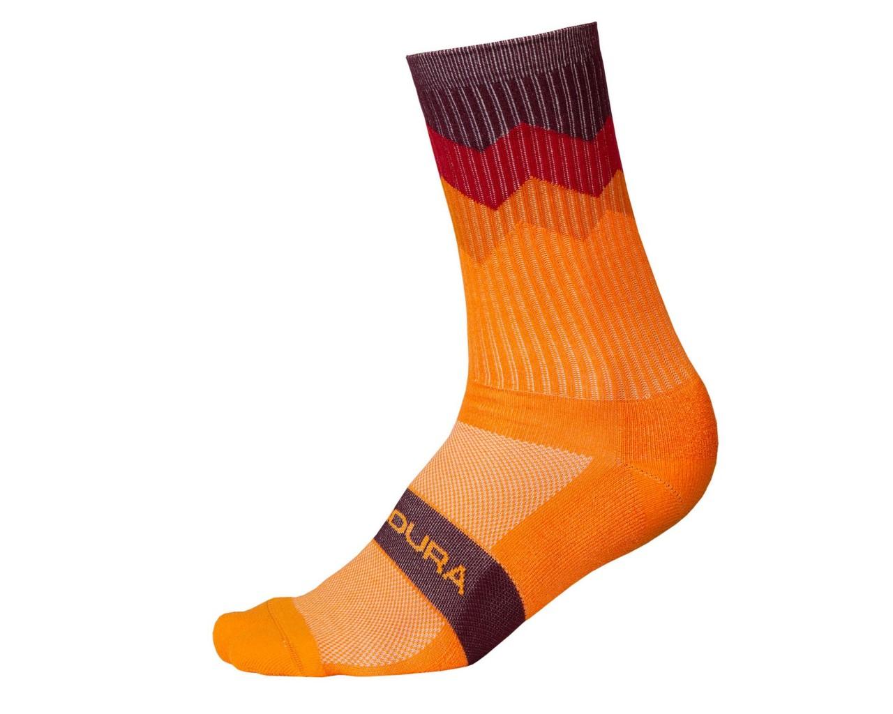 Endura Zacken Socken | mandarine