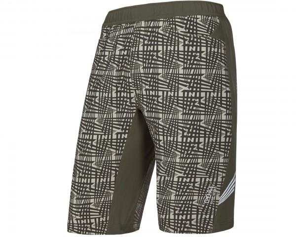 Gore Bike Wear E PRINT 2in1 Shorts+ Sitzpolster Cycling Recreational - Passform Comfort | ivy green