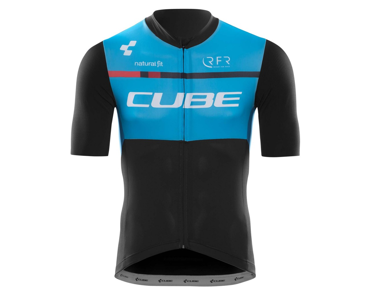 Cube Teamline Jersey Short Sleeve | black n blue n white