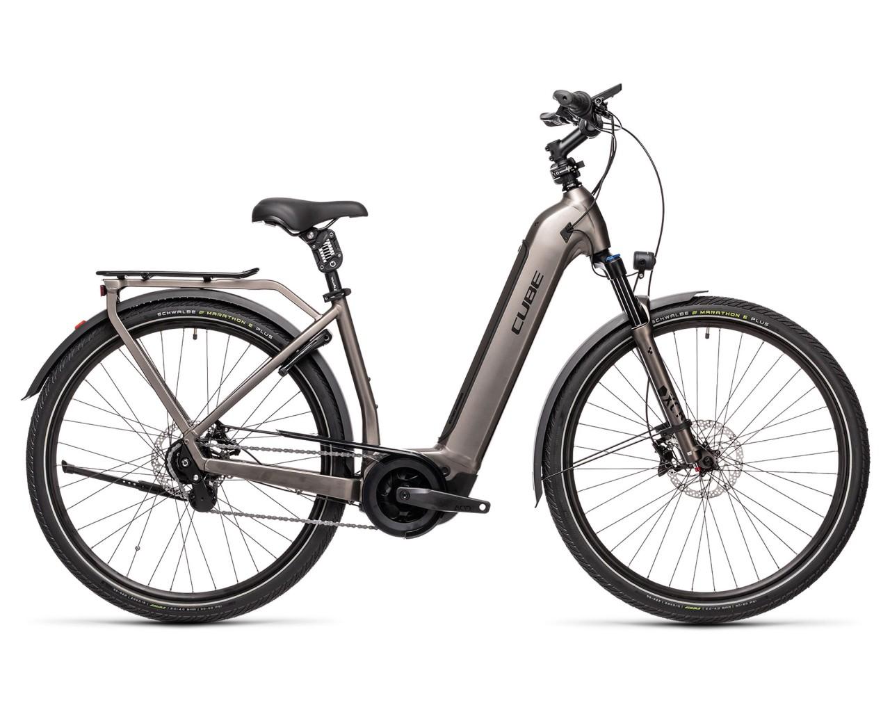 Cube Town Hybrid SL 625 29 Easy Entry - Pedelec City Bike 2021 | teak n black