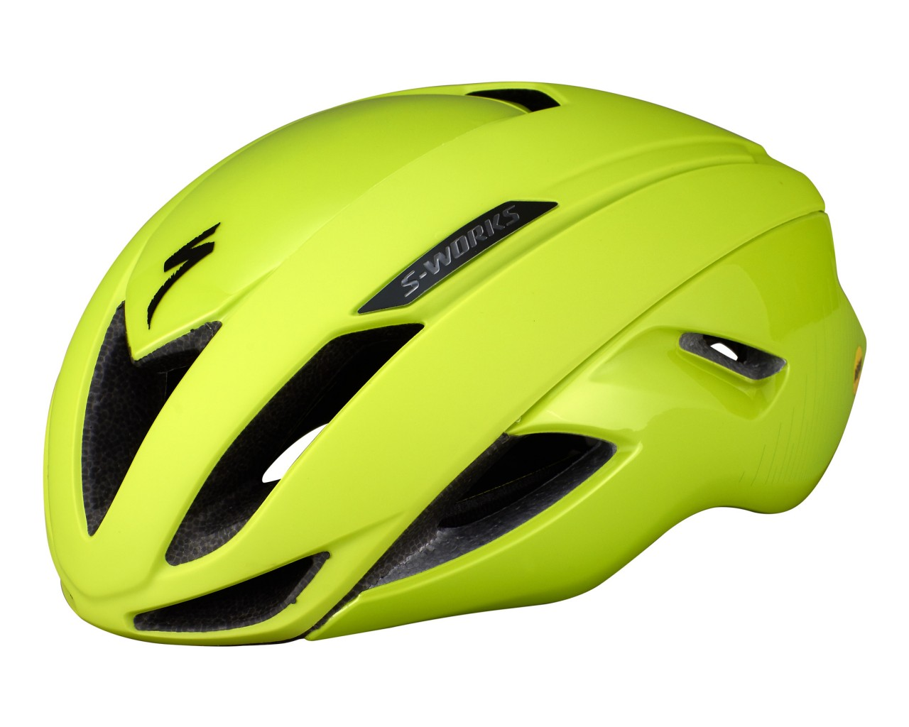 Specialized S-Works Evade Road Bike Helmet ANGi ready & MIPS | hyper green