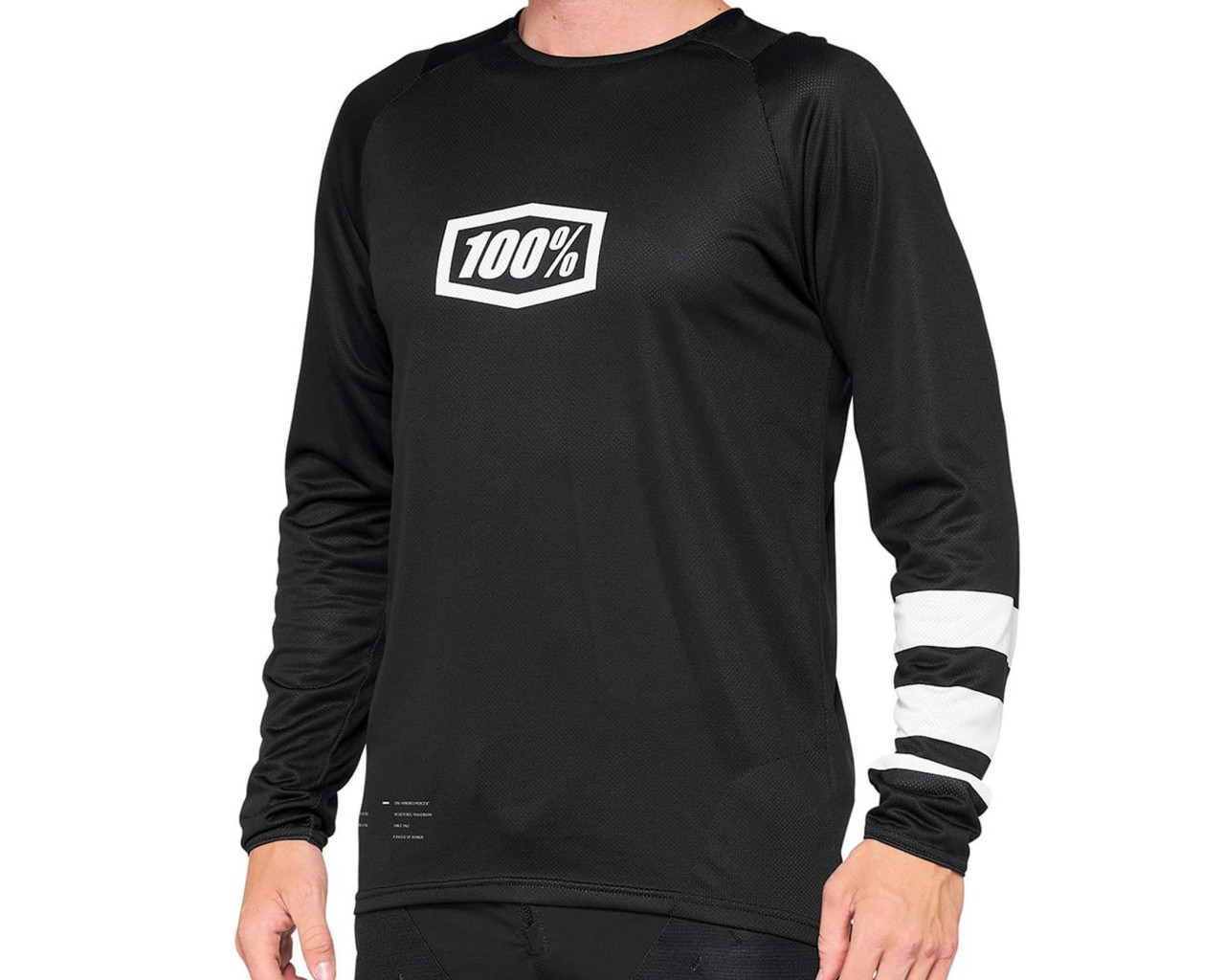 100% R-Core Downhill Jersey long sleeve | black-white
