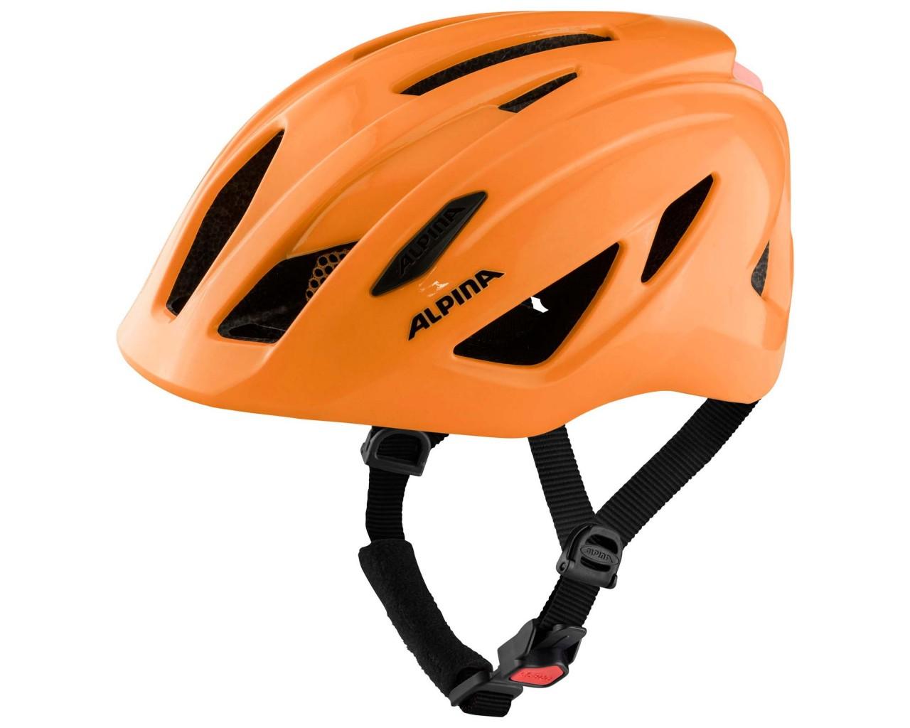 Alpina Pico Flash Kinder Fahrradhelm | neon orange gloss 50-55