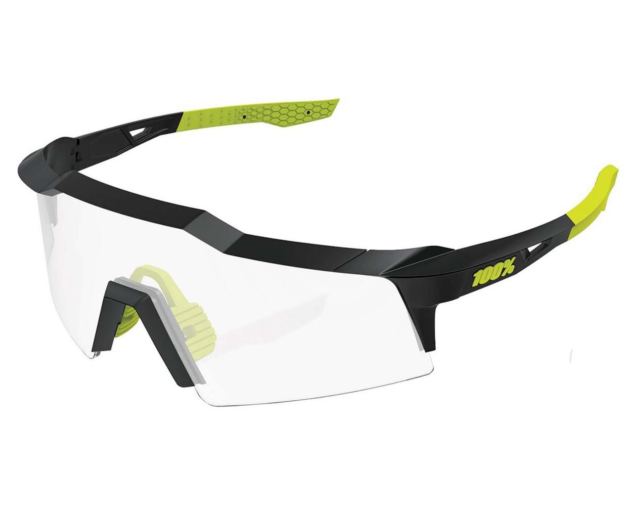 100% Speedcraft SL - Photochromic Lens Sport-Sonnenbrille   gloss black