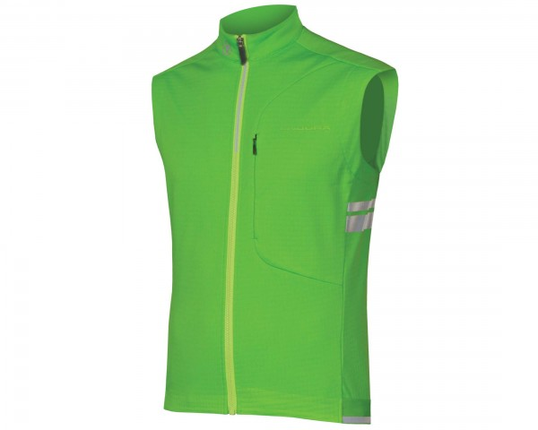 Endura Winter Windchill windproof vest | hi-viz green