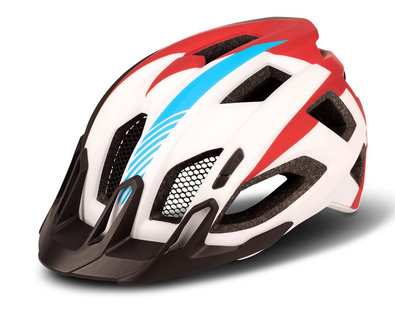 Cube Helmet QUEST Teamline | white n blue n red