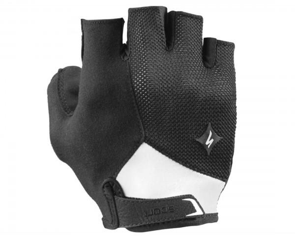 Specialized Womens Body Geometry Sport short finger Gloves | black-white