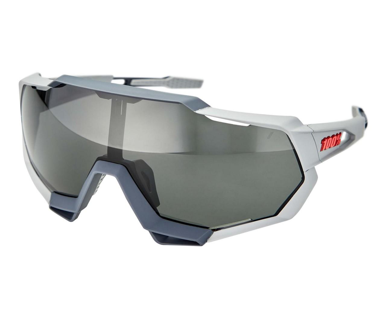 100% Speedtrap - Smoke Lense Sportbrille   soft tact stone grey