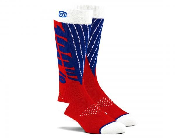 100% Torque Comfort Moto Socken   red-blue