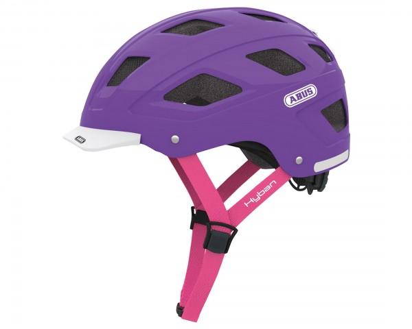 Abus Hyban Urban Fahrradhelm   brilliant purple