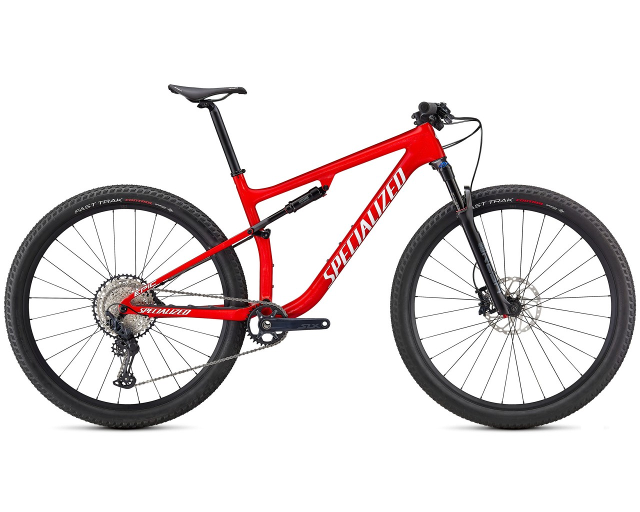 Specialized Epic Comp Carbon 29 - MTB Fullsuspension 2021   gloss flo red-red ghost pearl-metallic white silver