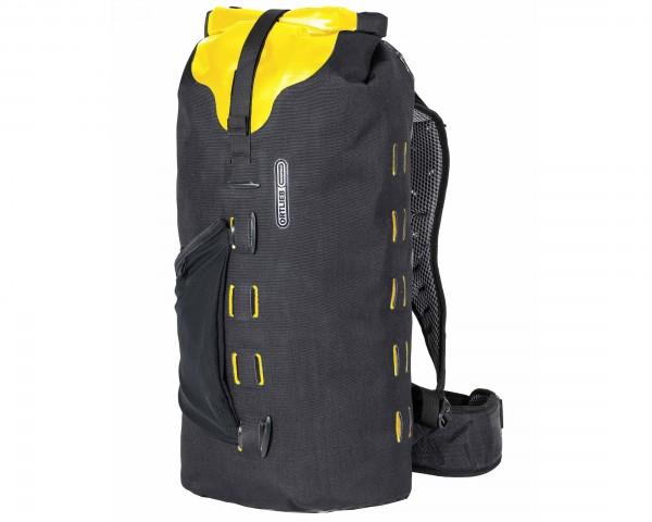Ortlieb Gear-Pack 25 liter wasserdichter Packsack/Rucksack | black-sunyellow