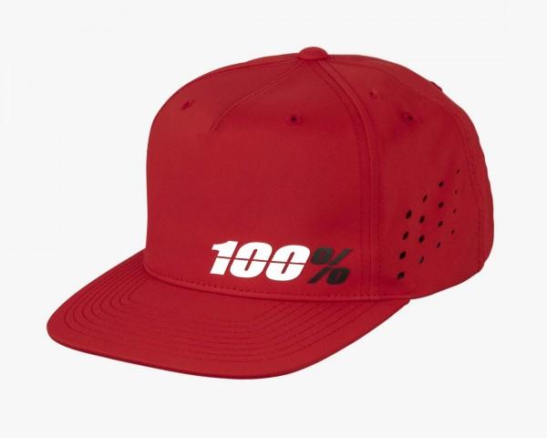 100% Ozone Snapback Hat | red