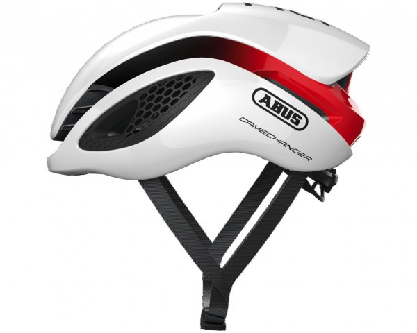 Abus GameChanger Rennrad Fahrradhelm | white red