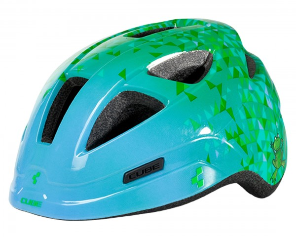 Cube PRO JUNIOR Kinder Fahrradhelm | green triangle