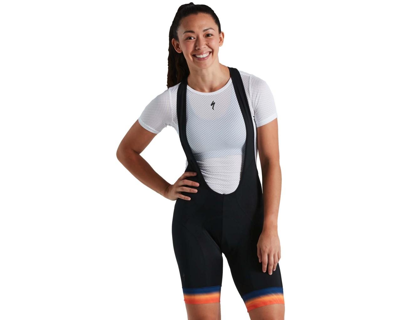 Specialized RBX Comp Damen Bib-Shorts   orange sunset-dark blue