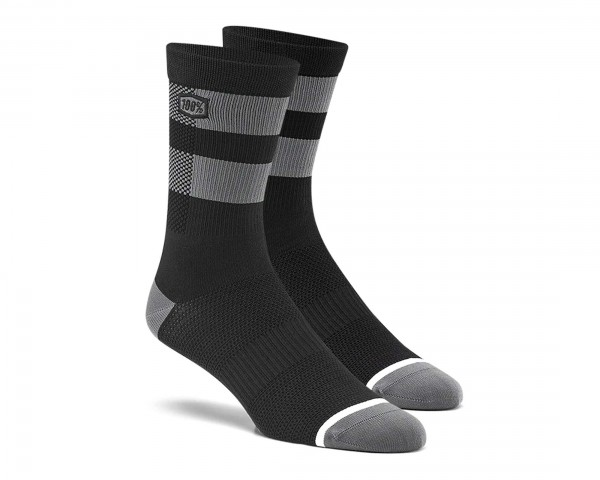 100% Flow Socken | black-grey