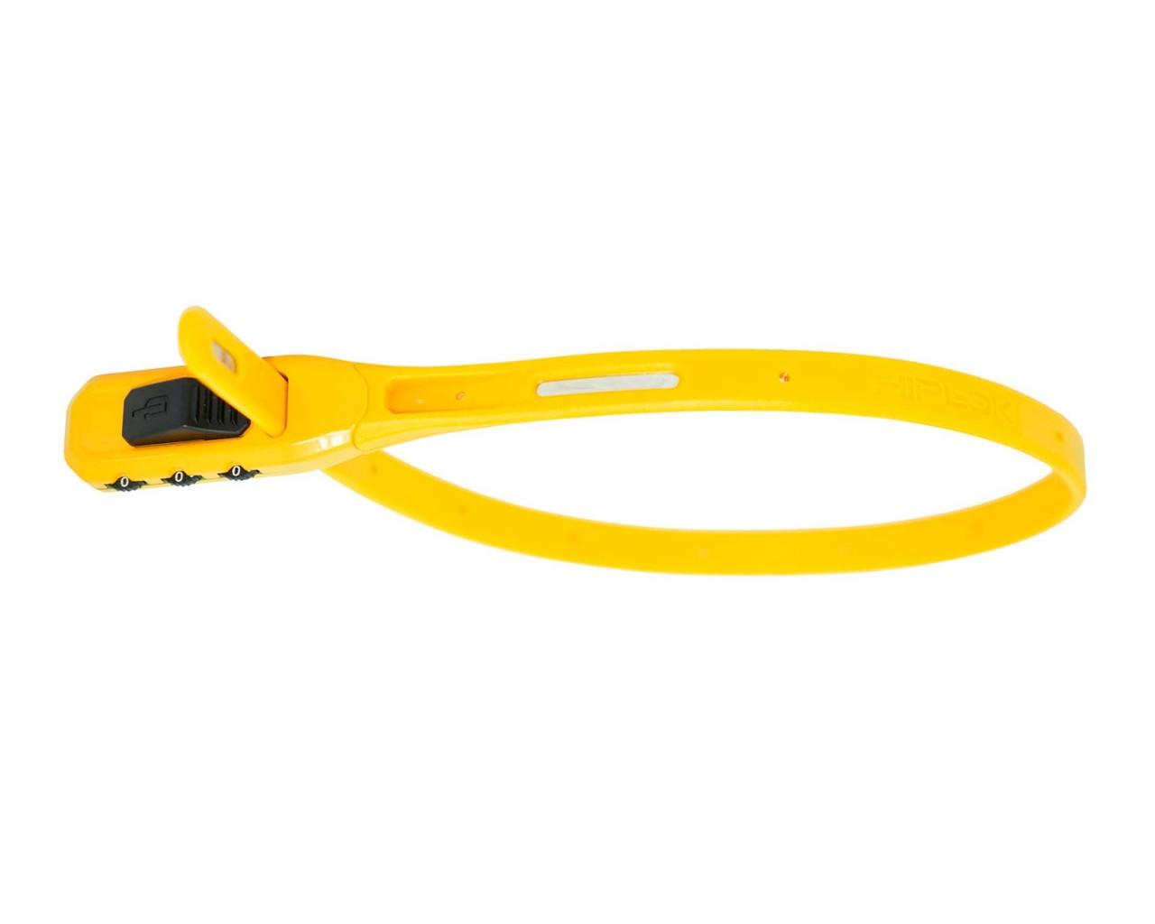 Hiplok Z-Lok Combo - reusable Lock with combination dials 50cm   yellow