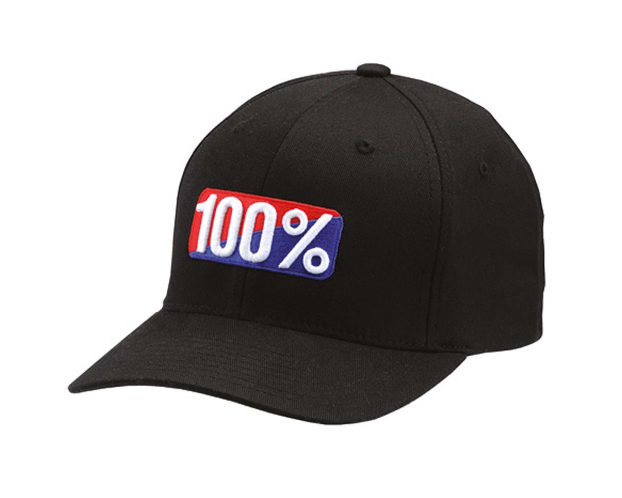 100% Classic X-Fit Flexfit Hat | black