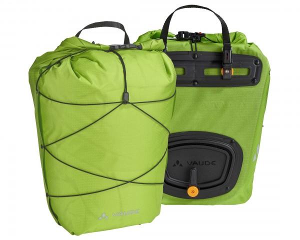 Vaude Aqua Back Light wasserdichte Hinterradtaschen (Paar) - PVC-frei | chute green