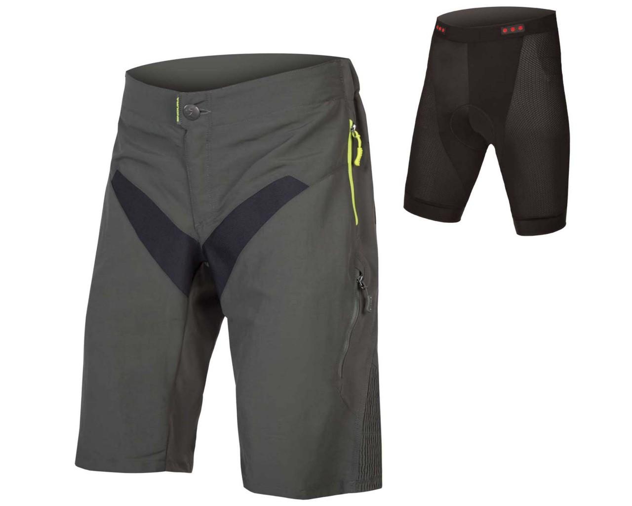 Endura SingleTrack Shorts mit Innenhose   khaki
