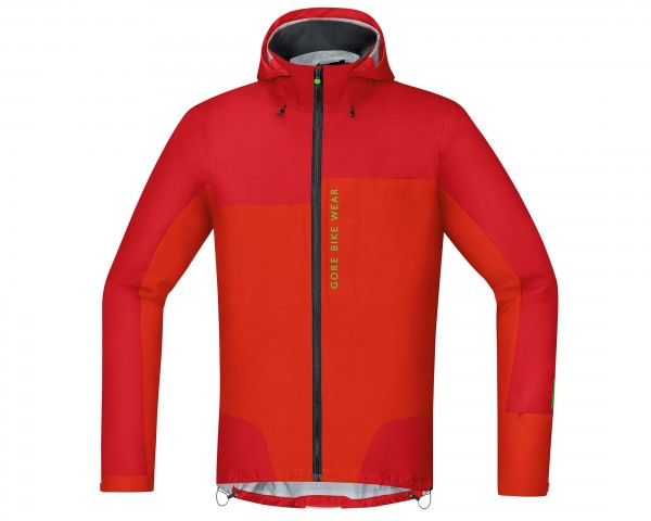 Gore Bike Wear Power Trail Gore-Tex Active Jacke Off-Road Ambitious - Passform Slim | rot-orange