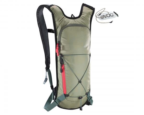 Evoc CC 3 litres cycle backpack + 2 litres bladder | light olive