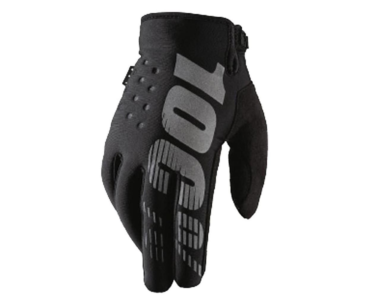 100% Brisker Schlechtwetter Handschuhe   black-grey