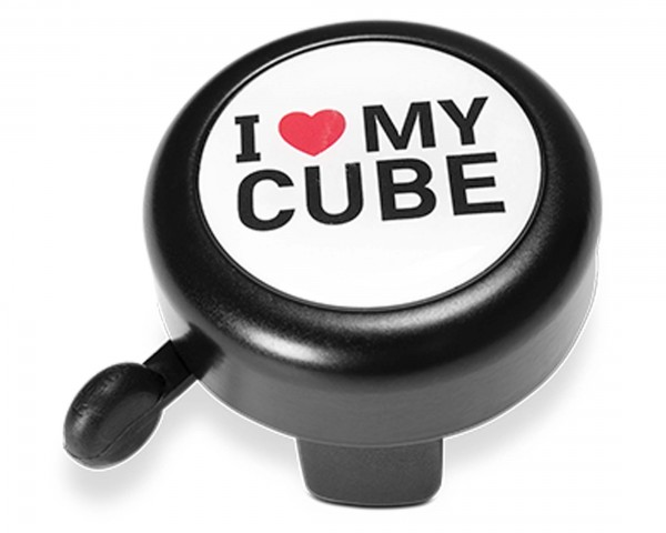 Cube Bicycle Bell I LOVE MY CUBE | black n white n red