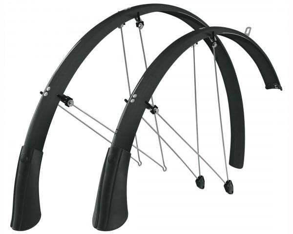 SKS Longboard 45 28 Zoll Schutzblechset | schwarz-sonderedition