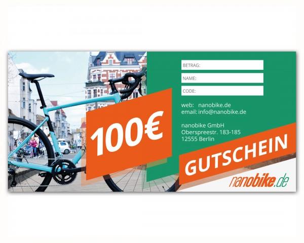 nanobike Geschenkgutschein 100 EUR