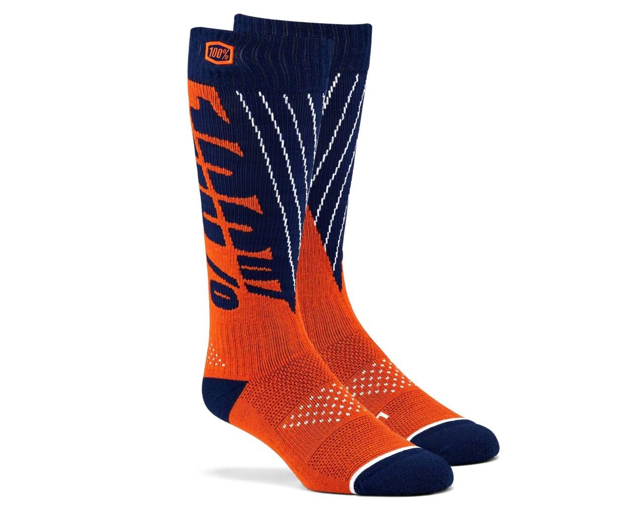 100% Torque Comfort Moto Socken | navy-orange