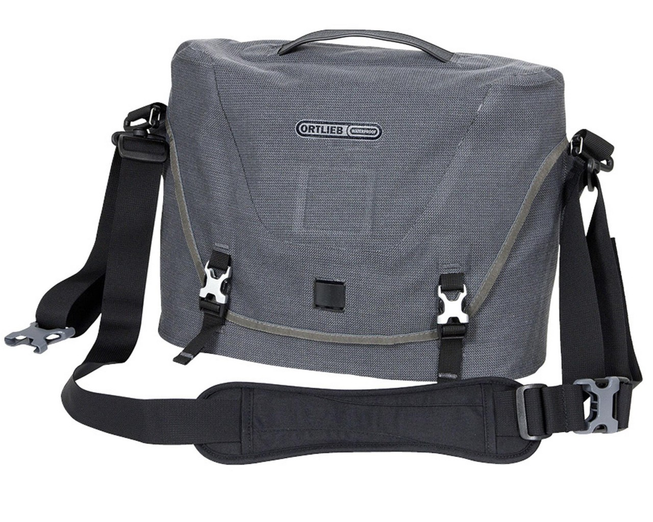 Ortlieb Courier-Bag waterproof shoulder bag | PVC-free - size M | pepper