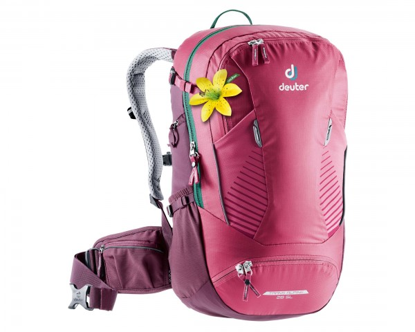 Deuter Trans Alpine 28 litres SL Women Bike backpack | ruby-blackberry