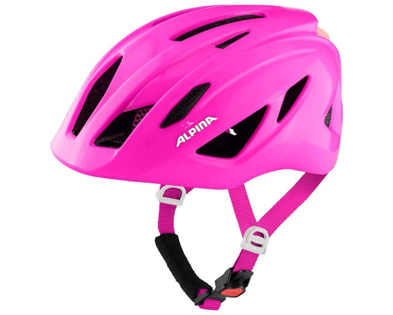 Alpina Pico Flash Kids Bike Helmet | pink gloss 50-55