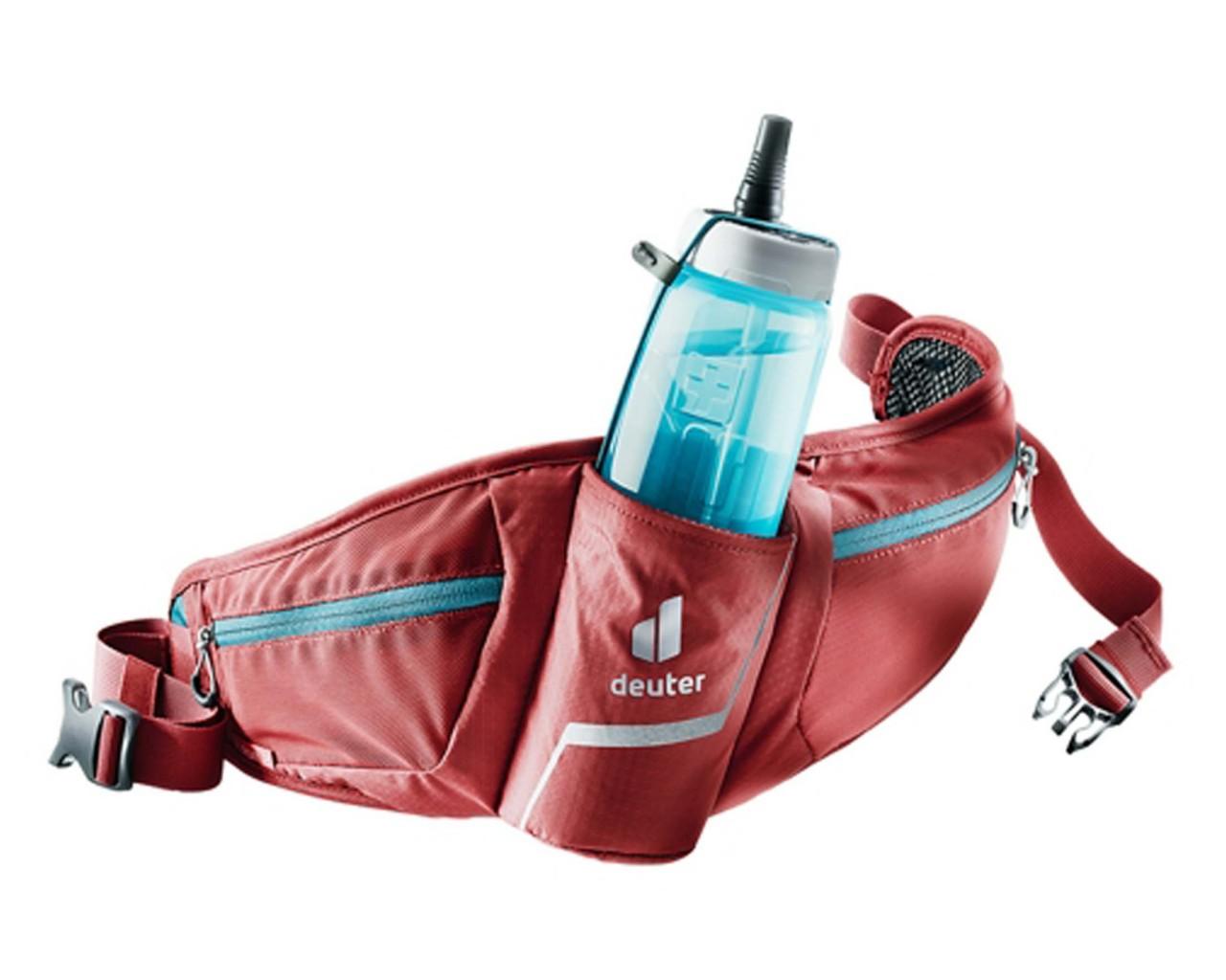 Deuter Pulse 2 Hip Belt Bottle Bag   cranberry