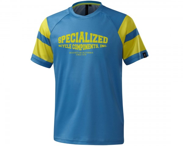 Specialized Enduro Grom Comp Kids short sleeve jersey | neon blue