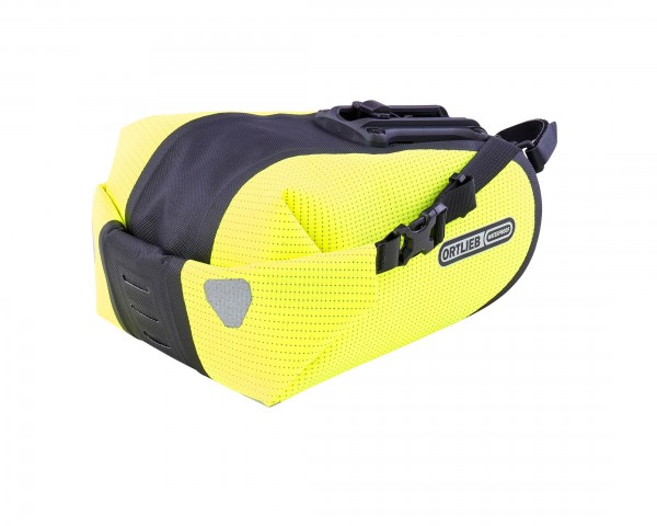 Ortlieb Saddle-Bag Two High Visibility 4.1 litres waterproof Saddlebag PVC free | neon yellow-black reflex