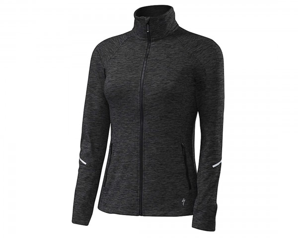 Specialized Womens Shasta Track Jacket   black heather