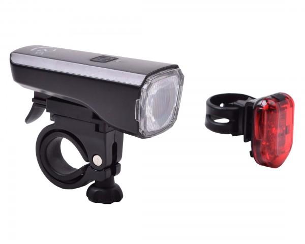 Cube RFR Beleuchtungsset Tour 25 lux USB StVZO-Zulassung   schwarz