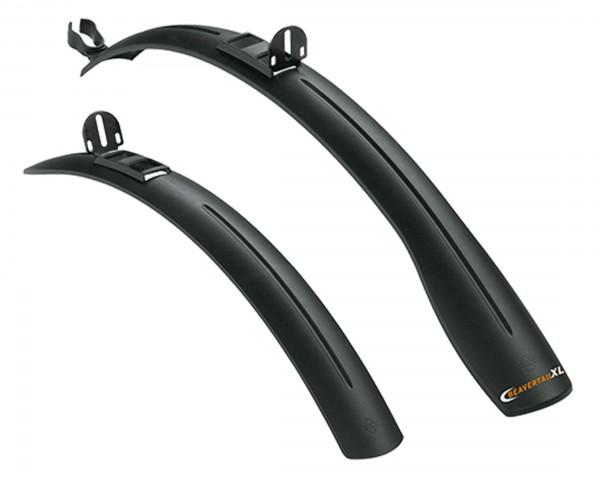 SKS Steckblechset Beavertail XL 26 - 28 Zoll extra breit 59 - 90 mm | schwarz