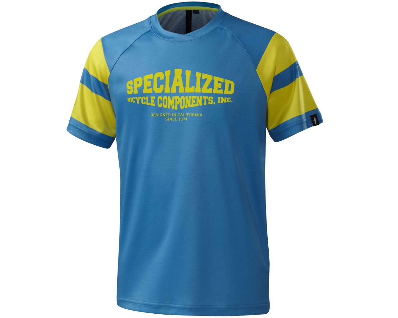 Specialized Enduro Grom Comp Kids short sleeve jersey   neon blue