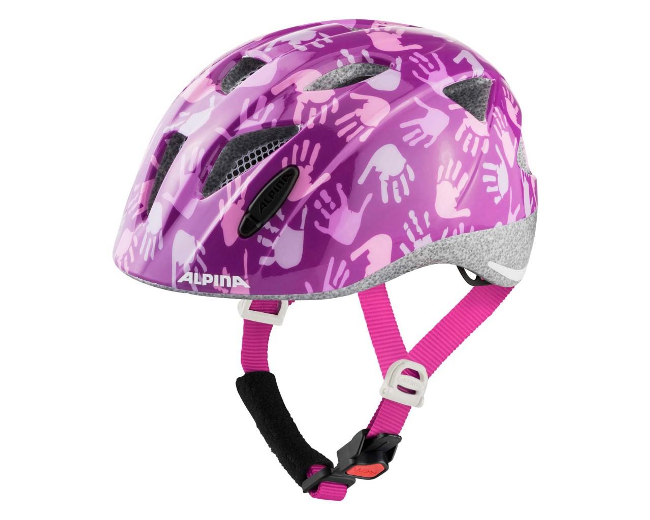 Alpina Ximo Kids Bike Helmet | berry hands gloss