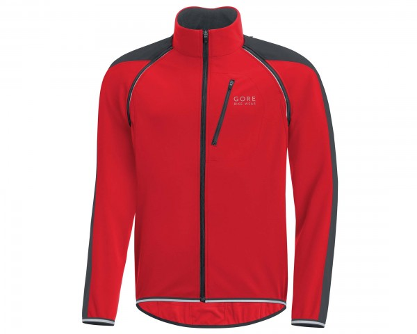 Gore Bike Wear Phantom Plus Windstopper Zip-Off Jacke - Passform Comfort | rot-schwarz